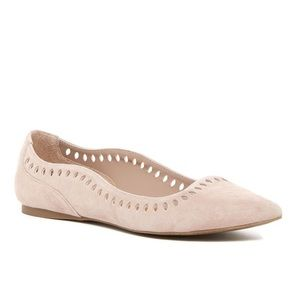 14th and union laser cut suede flats